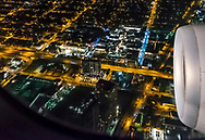 AA Flight 60 from DFW to MIA flies over Midtown Miami and the Miami Design District