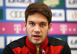 Montenegro player Nikola Vukcevic during press conference at the Football Association of Montenegro, Podgorica.