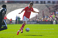 Mike-Steven Bahre of Barnsley (21) in action during the EFL Sky Bet League 1 match between Barnsley and Shrewsbury Town at Oakwell, Barnsley, England on 19 April 2019.