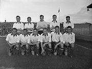 31/08/1955<br /> 08/31/1955<br /> 31 August 1955<br /> Soccer: Waterford F.C. v Shamrock Rovers, Dublin  City Cup Semi Final at Dalymount Park. The Waterford team.
