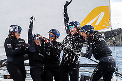 190707 Wings of Sweden with skipper Anna Östling celebrates during day five of Match Cup Sweden on July 7, 2019 in Marstrand.<br />