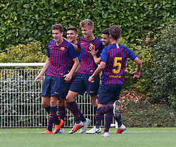 October 3, 2018 - London, England, United Kingdom - Enfield, UK. 03 October, 2018.Joan Rojas of FC Barcelona celebrates his goal.during UEFA Youth League match between Tottenham Hotspur and FC Barcelona at Hotspur Way, Enfield. (Credit Image: © Action Foto Sport/NurPhoto/ZUMA Press)