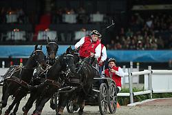 Von Stein George, (GER)<br /> FEI World Cup Driving<br /> DB Schenker German Master<br /> Stuttgart - German Masters 2015<br /> © Hippo Foto - Stefan Lafrentz
