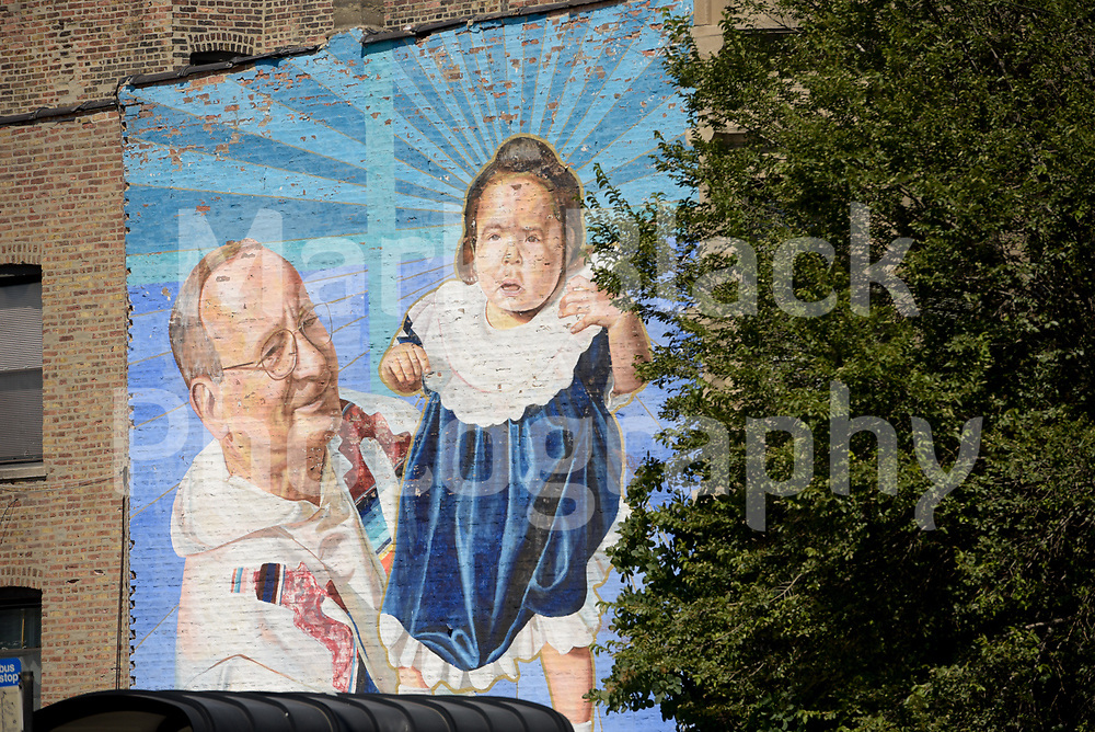 Ashland Avenue in the Pilsen neighborhood of Chicago on Wednesday, Aug. 19, 2020.  Photo by Mark Black