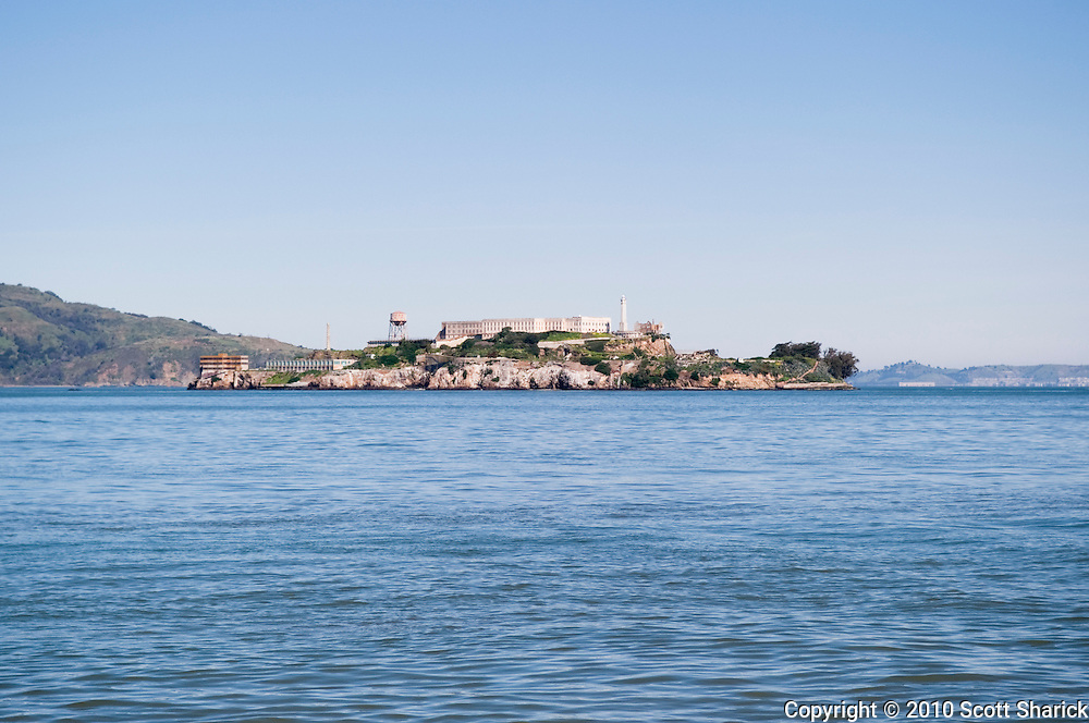 Alcatraz Island in the distance.