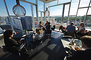 Vienna, Austria. Opening Day of the new WU Campus (University of Economics).<br /> WU Executive Academy by No.MAD Arquitectos, Madrid.<br /> Restaurant & Bar COMIDA y Luz.