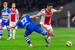 13-03-2019 NED: Ajax - PEC Zwolle, Amsterdam<br /> Ajax has booked an oppressive victory over PEC Zwolle without entertaining the public 2-1 / Pelle Clement #22 of PEC Zwolle, Dusan Tadic #10 of Ajax