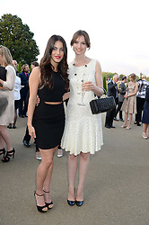 Left to right, JESSICA LOWNDES and SOPHIE ELLIS-BEXTOR at the Fashion Rules Exhibition Opening at Kensington Palace, London W8 on 4th July 2013.
