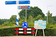 OTTERLO, NETHERLANDS: Display of Vincent Van Gogh poster by signs during traditional festival by Kroller Muller museum, Otterlo, The Netherlands