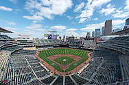 A general view of Target Field prior to the Minnesota Twins home opener game against the Los Angeles Angels in Minneapolis, Minnesota on April 9, 2012.