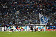 OM team after the French Championship Ligue 1 football match between Olympique de Marseille and Paris Saint-Germain on October 22, 2017 at Orange Velodrome stadium in Marseille, France - Photo Philippe Laurenson / ProSportsImages / DPPI
