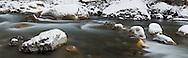 Winter on the Chilliwack River near Chilliwack Lake Provincial Park in Chilliwack, British Columbia, Canada