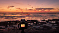 Fuji X-T3 camera set up to record the sun rising under the Sunshine Skyway bridge from Fort De Soto park in St. Petersburg, Florida. Image taken with a Leica CL camera and 23 mm f/2 lens (ISO 1250, 23 mm, f/5.6, 1/60 sec).