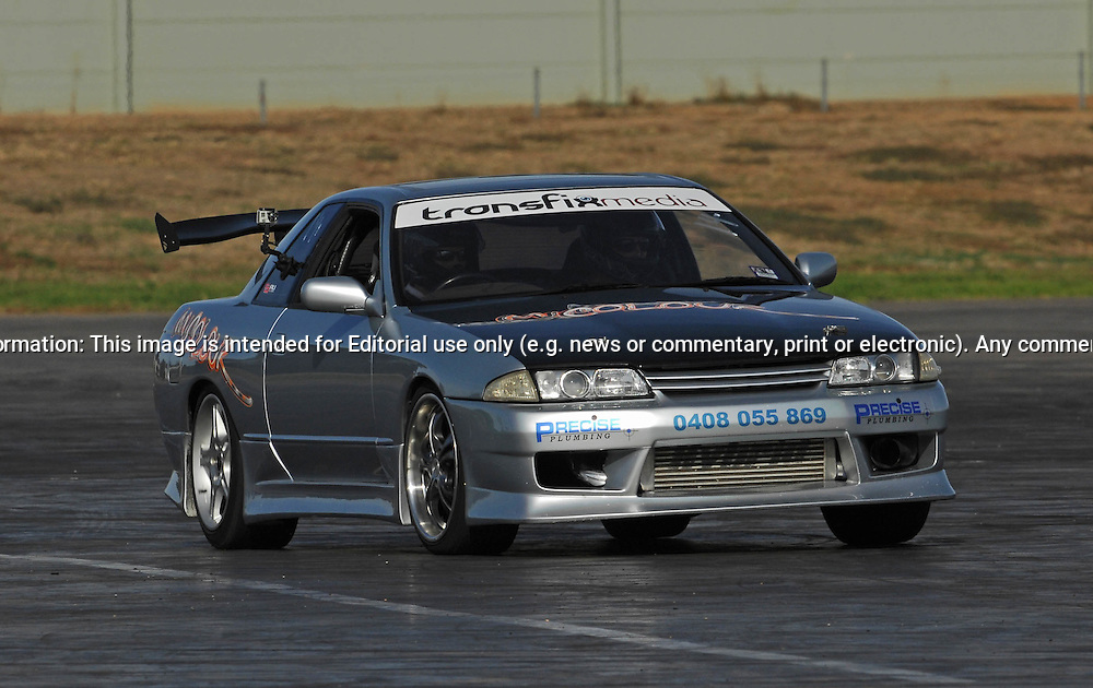 Tim Williamson.Nissan Skyline R32 GTST.SAU Deca Motorkhana sponsored by Micolour.Shepparton, Victoria .23rd of May 2009.(C) Joel Strickland Photographics.Use information: This image is intended for Editorial use only (e.g. news or commentary, print or electronic). Any commercial or promotional use requires additional clearance.