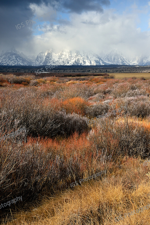Clouds over the Sagebrush plains in Grand Teton National Park