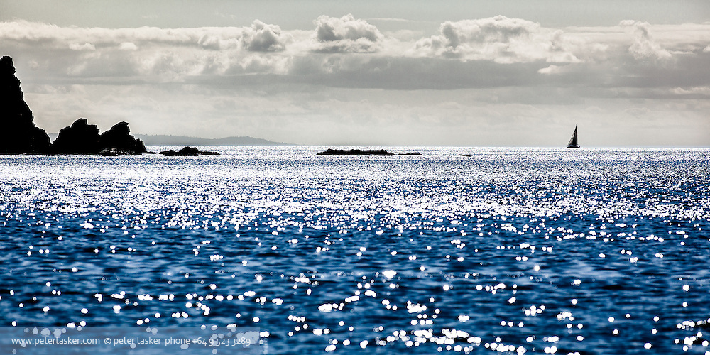 Looking out from Port Jackson, northern tip, Coromandel Peninsula. New Zealand.