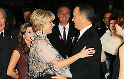 © Licensed to London News Pictures. 20/10/2013, UK. Emma Thompson; Tom Hanks, The BFI London Film Festival: Saving Mr Banks - World Film Premiere, Odeon Leicester Square, London UK, 20 October 2013. Photo credit : Richard Goldschmidt/Piqtured/LNP