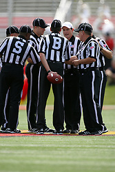 15 September 2012:  Referees and officials during an NCAA football game between the Eastern Illinois Panthers and the Illinois State Redbirds at Hancock Stadium in Normal IL