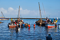 Tanzanie, archipel de Zanzibar, ile de Unguja (Zanzibar), ville de Zanzibar, quartier Stone Town classe patrimoine mondial UNESCO, port de peche // Tanzania, Zanzibar island, Unguja, Stone Town, unesco world heritage, fishing harbour