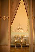 Two chairs seen through open door in Casino Gaditano, Cadiz, Andalusia, Spain