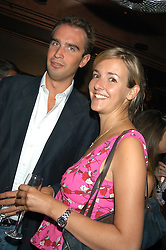 LADY LOUISE FITZROY and FRITZ VON WESTENHOLTZ at a party hosted by Frankie Dettori, Marco Pierre White and Edward Taylor to celebrate the launch of Frankie's Italian Bar & Grill at 3 Yeoman's Row, London SW3 on 2nd September 2004.