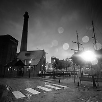 The old pump house at Albert Dock originally built in 1870 is now a bar.