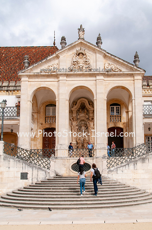 Faculty of Law at the Via Latina building at University of Coimbra Courtyard, Coimbra, Portugal