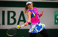 Paula Badosa of Spain in action against Sloane Stephens of the United States during the second round at the Roland Garros 2020, Grand Slam tennis tournament, on October 1, 2020 at Roland Garros stadium in Paris, France - Photo Rob Prange / Spain ProSportsImages / DPPI / ProSportsImages / DPPI