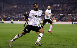 Derby County's Ashley Cole in action