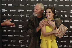 June 20, 2018 - Brussels, Belgium - Director TERRY GILLIAM and Actress Joana Ribeirohave a luge on the red carpet at the arrival for the opening night of the 'Brussels International Film Festival' aka BRIFF. (Credit Image: © Thierry Roge/Belga via ZUMA Press)