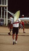 Barcelona,  SPAIN, GER M2X Thomas LANGE 1992 Olympic Regatta. Lake Banyoles, Nr Barcelona SPAIN. {Mandatory Credit: © Peter Spurrier/Intersport Images]