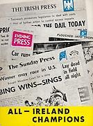All Ireland Senior Hurling Championship Final,.05.09.1965, 09.05.1965, 5th September 1965,.Minor Dublin v Limerick, .Senior Wexford v Tipperary, Tipperary 2-16 Wexford, Tipperary 2-16 Wexford, ..All Ireland Champions,