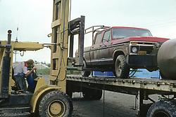 Trucker Delivering Truck