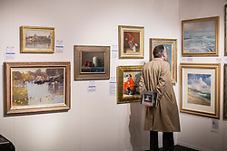 © licensed to London News Pictures. London, UK 11/04/2013. The Chelsea Art Fair opens at Chelsea Old Town Hall in London. The art fair offering contemporary and modern works of art from £500 to £20,000 and runs until April 14. Photo credit: Tolga Akmen/LNP