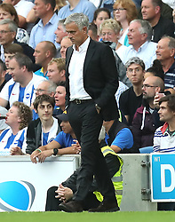 Manchester United manager Jose Mourinho during the Premier League match at the AMEX Stadium, Brighton.