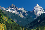 Peaks of the Canadian Rocky Mountains<br /> Glacier National Park<br /> British Columbia<br /> Canada