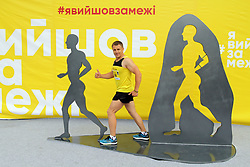 May 26, 2019 - Dnipro, Ukraine - A runner poses for a photo during the 4th Interpipe Dnipro Half Marathon, Dnipro, central Ukraine, May 26, 2019. Ukrinform. (Credit Image: © Mykola Miakshykov/Ukrinform via ZUMA Wire)