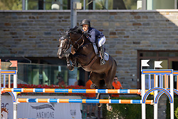 Müller Caroline, GER, Jack<br /> Nationaal Kampioenschap KWPN<br /> 6 jarigen springen final<br /> Stal Tops - Valkenswaard 2020<br /> © Hippo Foto - Dirk Caremans<br /> 19/08/2020