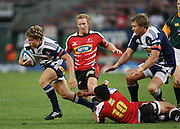 Gary van Aswegen breaks the defense during the Super Rugby (Super 15) fixture between the DHL Stormers and the Lions held at DHL Newlands Stadium in Cape Town, South Africa on 26 February 2011. Photo by Jacques Rossouw/SPORTZPICS