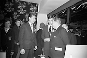22/10/1963<br /> 10/22/1963<br /> 22 October 1963<br /> R.D.S. Scientific Exhibition opens, Ballsbridge, Dublin. Queen's University Belfast Chemistry stand at the exhibition. Taoiseach Sean Lemass (right) with Mr. Colm Graham, (centre) Research Chemist at Queen's and Dr Salah Shahine (Egypt) Research Chemist at Queen's on left.