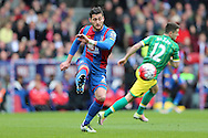 Joel Ward of Crystal Palace in action.  Barclays Premier League match, Crystal Palace v Norwich city at Selhurst Park in London on Saturday 9th April 2016. pic by John Patrick Fletcher, Andrew Orchard sports photography.