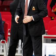 Galatasaray's coach Ceyhun YILDIZOGLU during their woman Euroleague group C matchday 9 Galatasaray between Halcon Avenida at the Abdi Ipekci Arena in Istanbul at Turkey on Wednesday, January 12 2011. Photo by TURKPIX