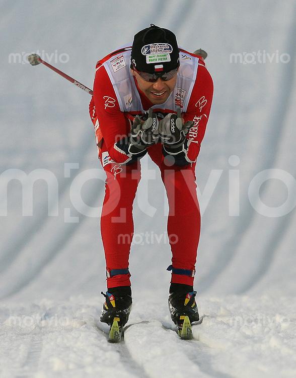 Sapporo , 220207 , Nordische Ski Weltmeisterschaft  Sprintrennen der Maenner ,  Janusz KREZELOK (POL)