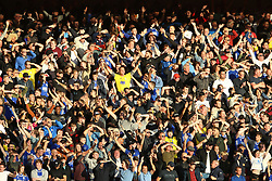 Birmingham City fans in the stands show their support