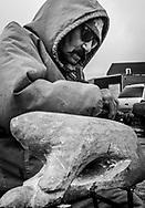 Adamie Inukpuk is a stone carver. Inukjuak as a lot of very good carvers.