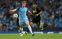 Football - 2016 / 2017 Champions League - Group C : Manchester City v Borussia Monchengladbach - The Ethiad Stadium <br /> <br /> Kevin De Bruyne of Manchester City and Mahmoud Dahoud of Borussia Monchengladbach during match between Manchester City and Borussia Monchengladbach at The Ethiad Stadium <br /> <br /> COLORSPORT/LYNNE CAMERON