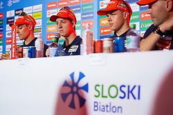 Miha Dovzan during press conference of Slovenian Nordic Ski Cross country team before new season 2019/20, on Novamber 12, 2019, in Petrol, Ljubljana, Slovenia. Photo Grega Valancic / Sportida