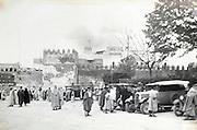 street scene city of Fes el Bali in Morocco early 1900s