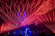 Heroes Symphony (based on Bowies 1977 album) by Philip Glass, performed by Charles Hazelwood, Army of Generalsand Paraorchestra with a laser show by Chris Levine on the Park Stage - The 2016 Glastonbury Festival, Worthy Farm, Glastonbury.