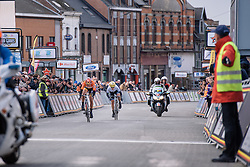 Chantal Blaak makes her sprint for the line with Emma Johansson not too far behind - Le Samyn des Dames 2016, a 113km road race from Quaregnon to Dour, on March 2, 2016 in Hainaut, Belgium.